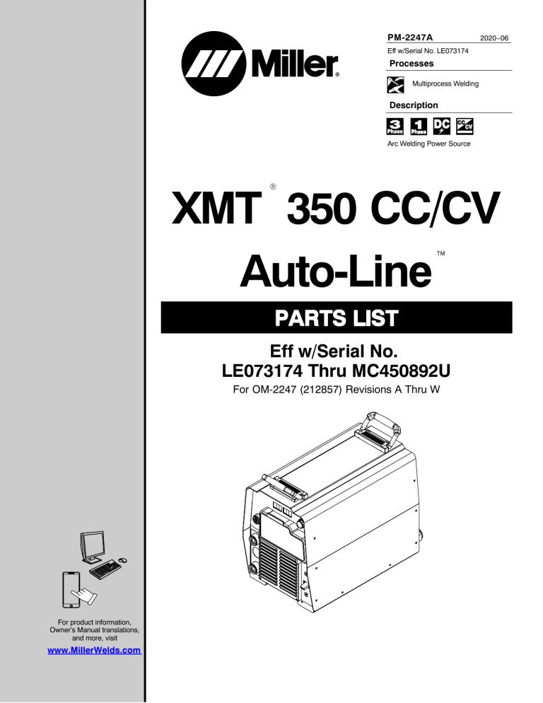 Miller MD340023U, MF354044U, LG120279A, LJ290205A