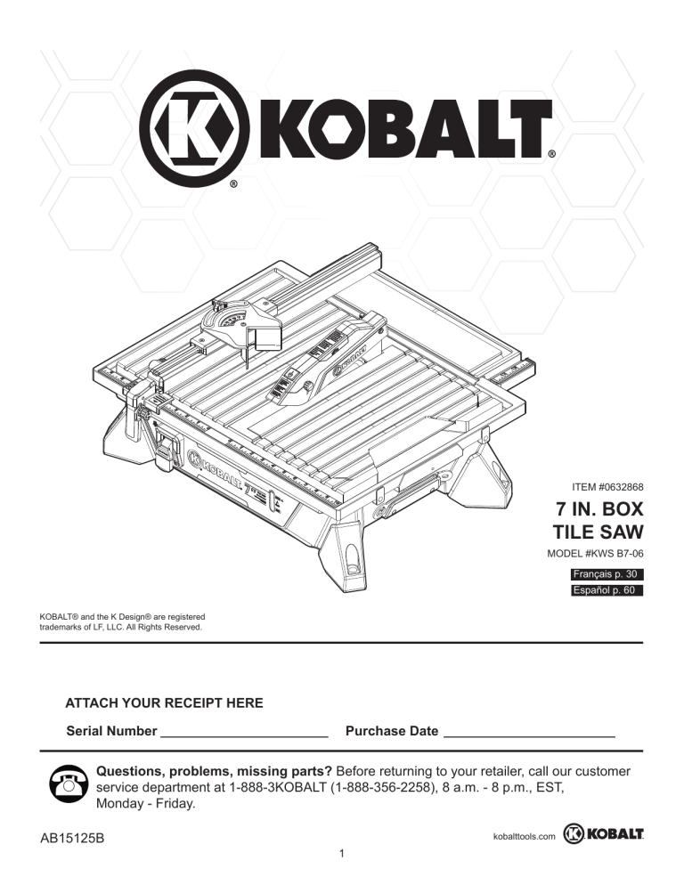 kobalt kws b7 06 manual manualzz