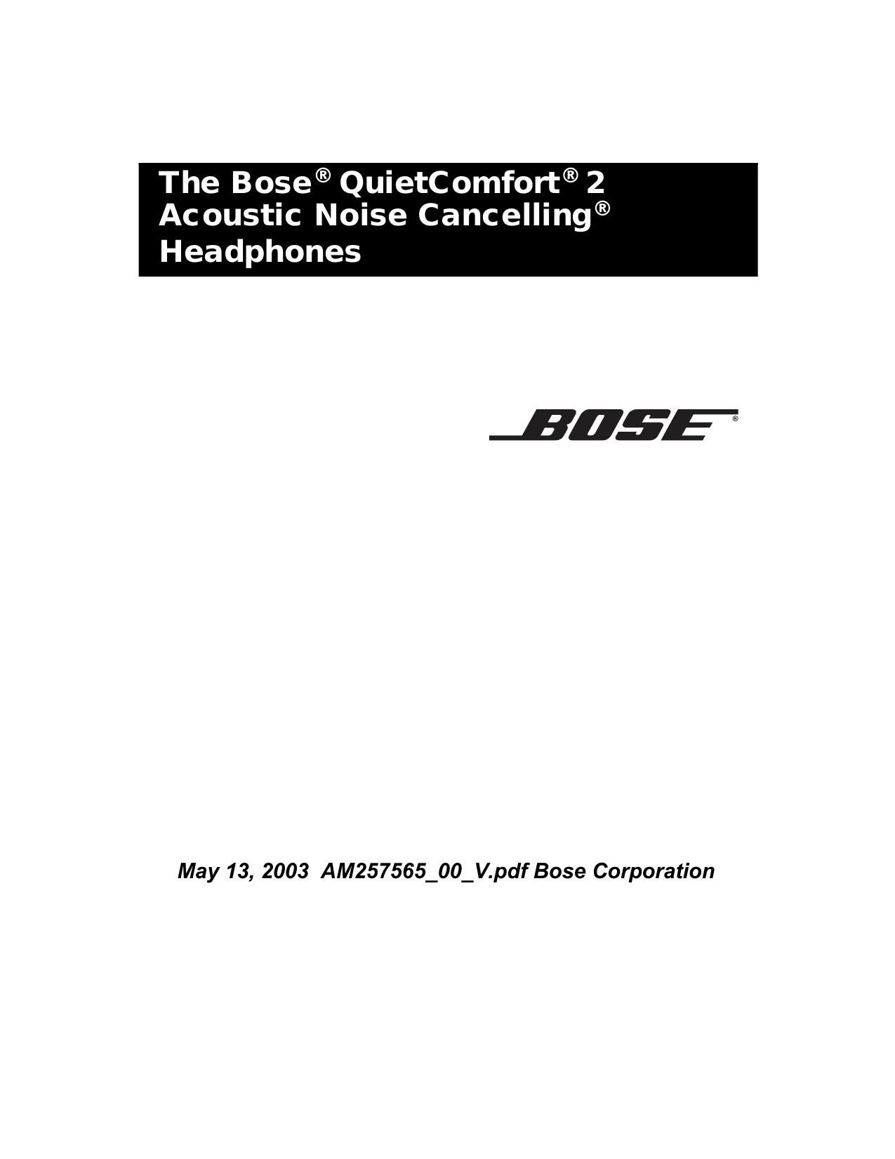 Bose 29354, QC 2, QuietComfort 2, QuietComfort Acoustic