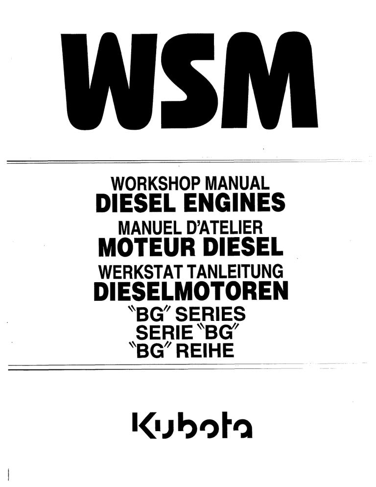 Kubota D1105-B, V1505-T-B, D1005-B, D1105-T-B, F2803-B