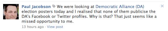FB post to DA 2