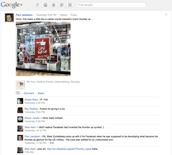 Rich media post  Google+
