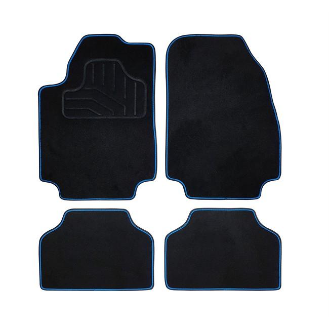 tapis tapis universels jeu complet de tapis de voiture universels noir et bleu moquette norautodescription