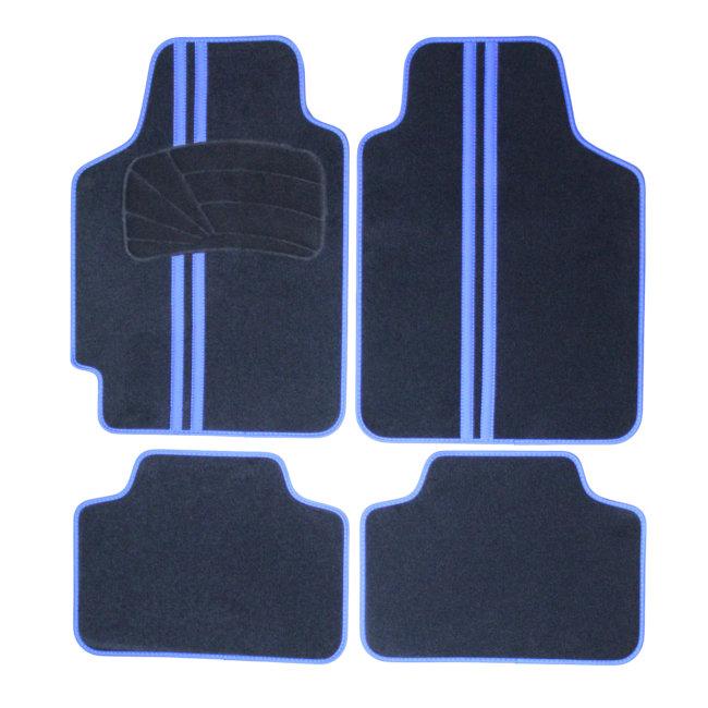 tapis tapis universels jeu complet de tapis de voiture universels noir et bleu moquette gti berlin