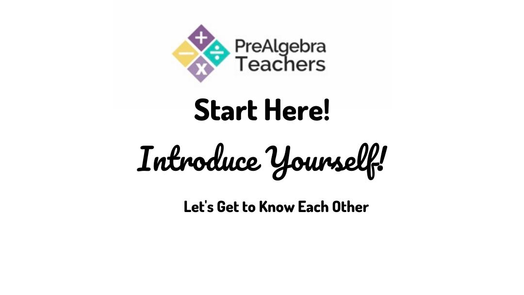 PreAlgebra Teachers Lesson Plan Membership