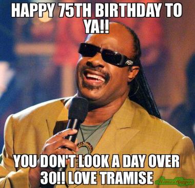 Happy 75th Birthday Meme