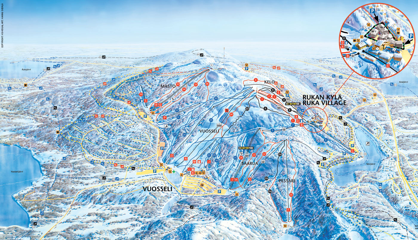 Ruka Trail Map  OnTheSnow