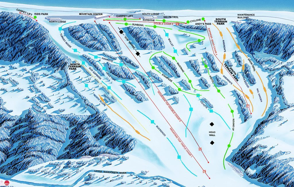 sundown mountain trail map onthesnow