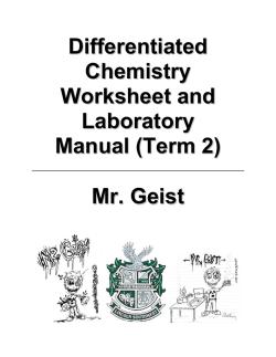 HOMEWORK WORKSHEET Chapter 4.1-4.3 4.1