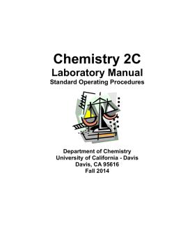 CHML 1045 General Chemistry I: Laboratory Manual
