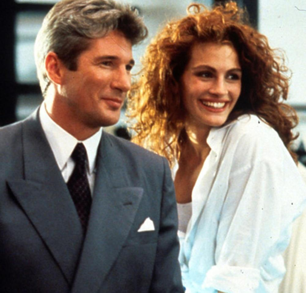 Julia Roberts and Richard Gere in the movie