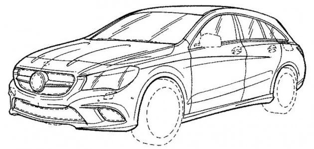 Mercedes-Benz CLA Shooting Brake facelift revealed in