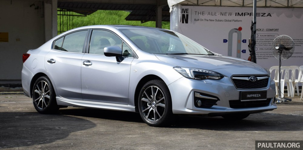 medium resolution of 2017 subaru impreza launched in singapore sedan and hatchback na 1 6l and 2 0