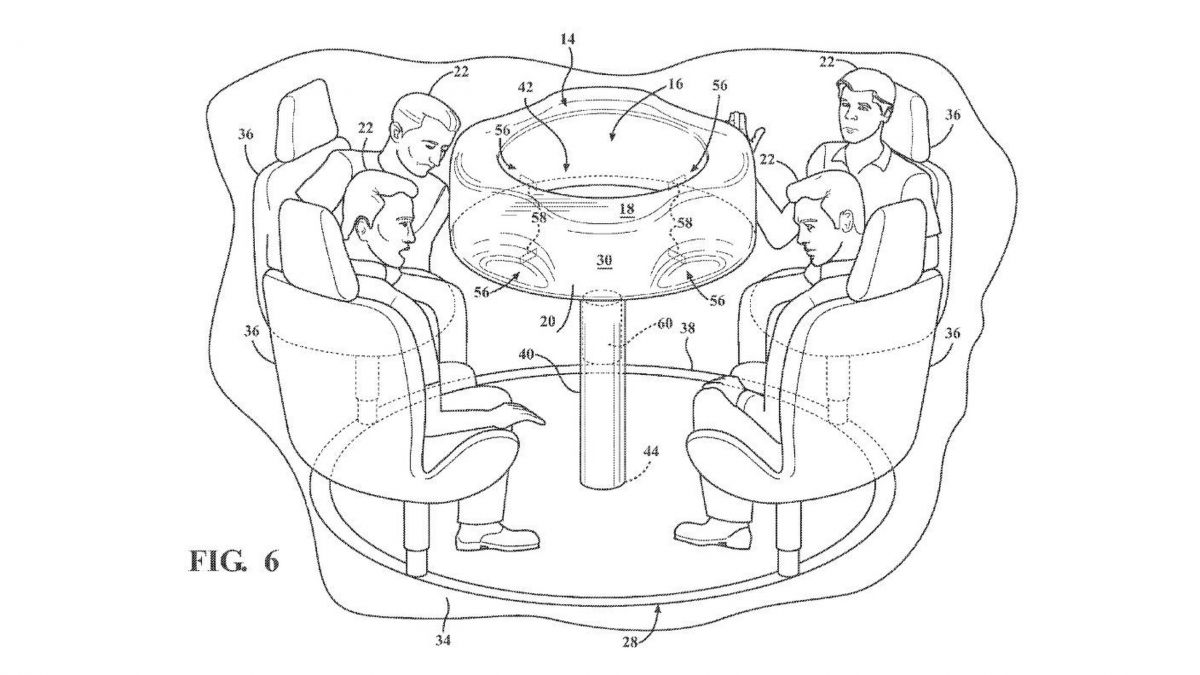 Ford files patent for retractable table with airbag