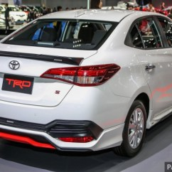 Toyota Yaris Trd Malaysia All New Camry 2019 Thailand Bangkok 2018 Ativ Future Vios Style Adds One Lower And Much Thicker Red Accent The Lipstick Is Matched By A Front Spoiler Enlarged Fog Lamp Surrounds With Three Strakes