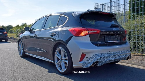 small resolution of ford focus s spied 2019 ford focus st 275 hp from 1 5