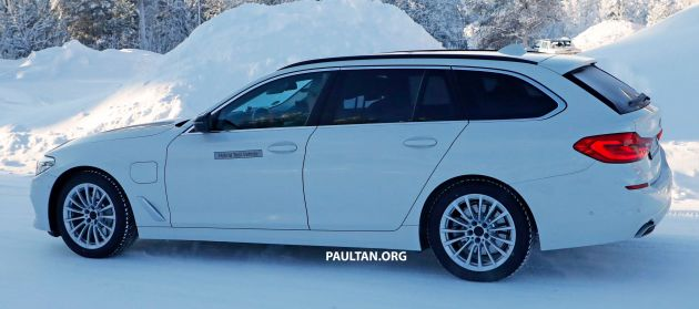 spied: bmw 5 series touring plug-in hybrid testing – website of