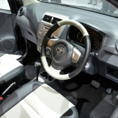 Interior New Agya Trd Bemper Grand Veloz Toyota Makes It A Double Debut At Iims Inside Both The S And Grade G Models Get Works 2 Din Head Unit With Usb Aux Input Plenty Of Chrome Finish Trim To Be Found