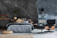 Bedroom in gray  Contemporary - Bedroom - Wall Murals ...