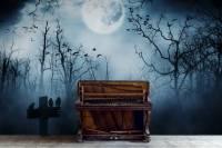 Music dark night  Vintage - Living room - Wall Murals ...