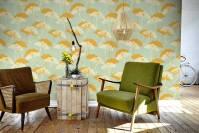 Falling flowers  Vintage - Living room - Wall Murals ...