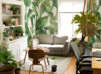 Living room in green  Living room - Contemporary - Wall ...