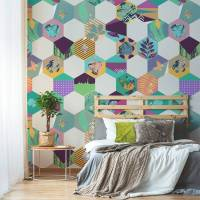 Mysterious mosaic  Contemporary - Bedroom - Wall Murals ...