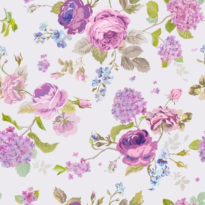 Papier peint Fleurs de printemps fond  Seamless floral