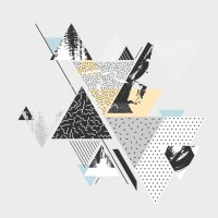 Abstract art background with geometric elements Wall Mural ...