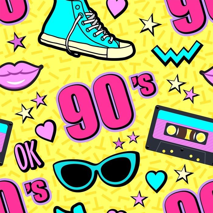Vector neon pop background 80s 90s Wallpaper  Pixers