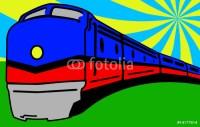 Train Pop Art Wall Mural  Pixers  We live to change