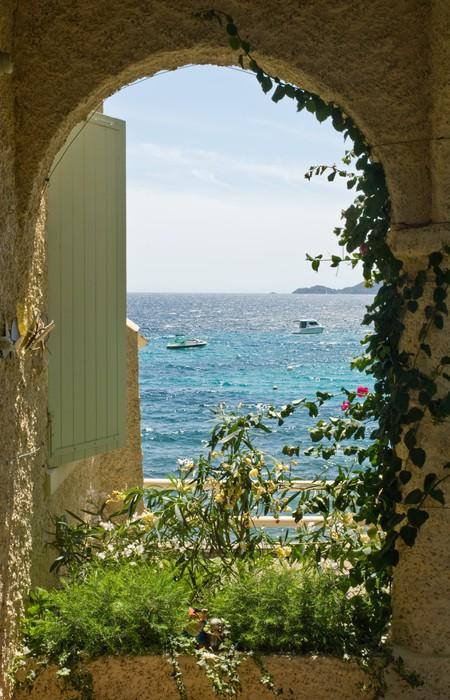 Fototapete Fenster zum Meer  Pixers  Wir leben um zu verndern