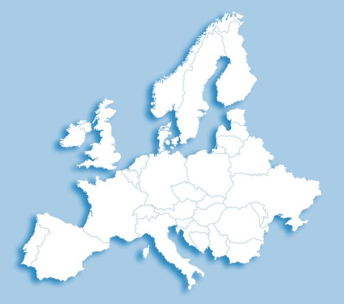 Fototapete Europa karte  Pixers  Wir leben um zu verndern
