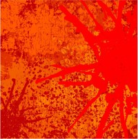 Abstract vector background in orange tones Wall Mural ...