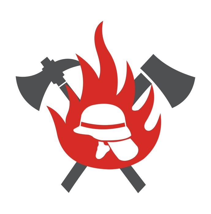 Fototapete Feuerwehr Logo  Pixers  Wir leben um zu verndern