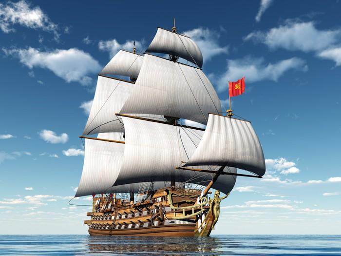 Fototapete Segelschiff  Pixers  Wir leben um zu verndern