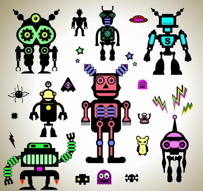Sticker Les robots  Pixers  Nous vivons pour changer