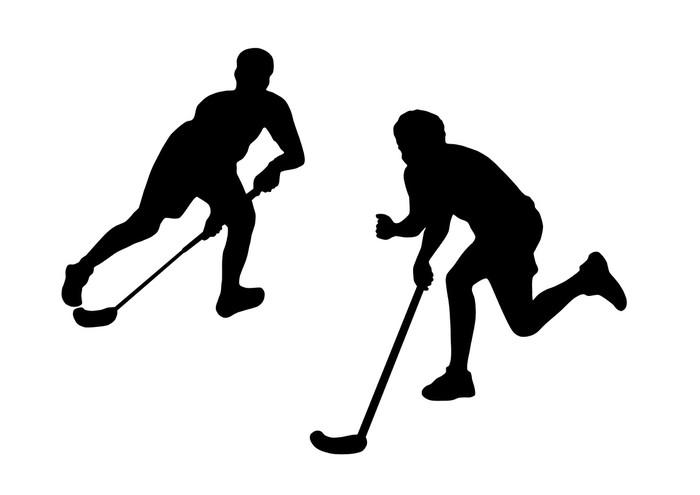 Aufkleber UnihockeySpieler  Pixers  Wir leben um zu