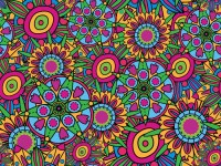 Abstract vector background. 60s Wall Mural  Pixers  We ...