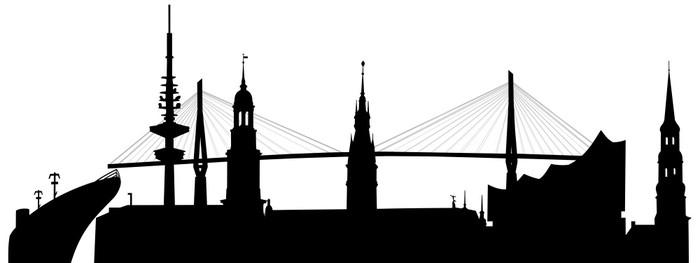 Fototapete Hamburg skyline  Pixers  Wir leben um zu verndern