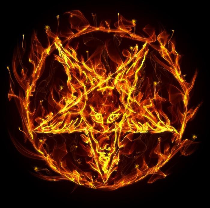 Fototapete Satanic Feuer Pentagramm  Pixers  Wir leben um zu verndern