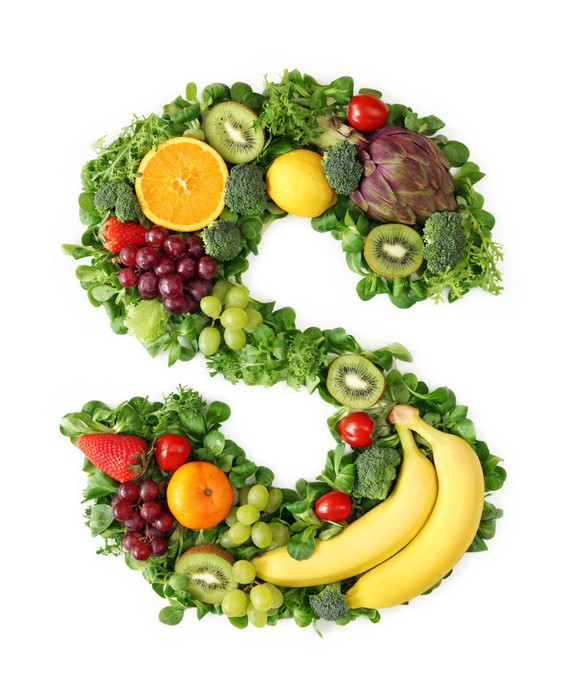 Vegetable Letters Fruit And