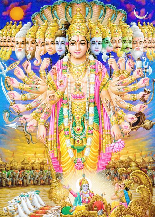 Fototapete Indischen Gott Krishna in virat roop  Pixers  Wir leben um zu verndern