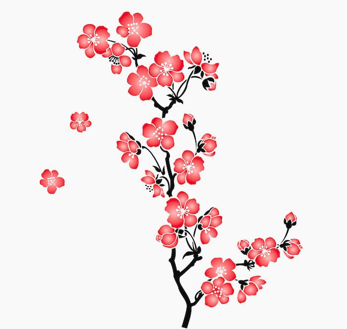 Fotomural Una rama de la flor de cerezo Sakura  Pixers