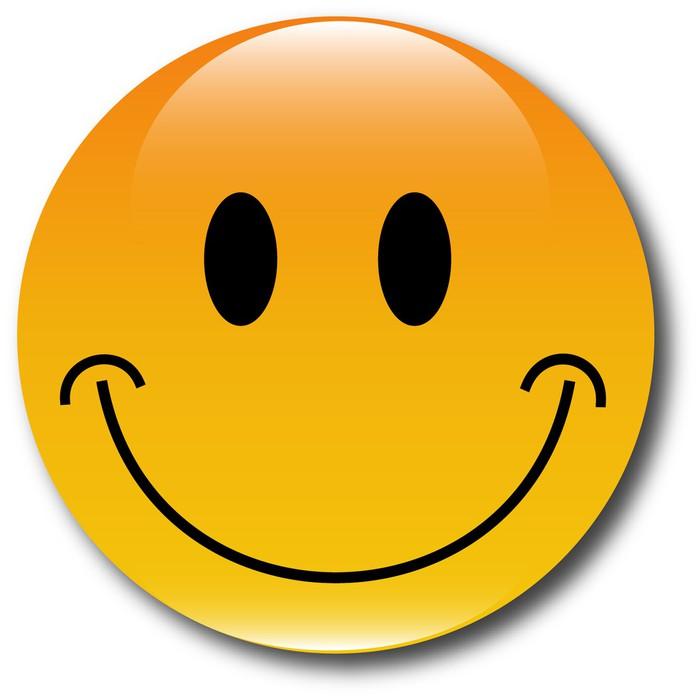 Aufkleber Glcklich smiley Web Button  Pixers  Wir