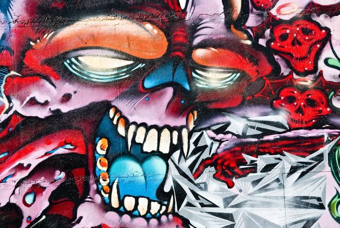 Fototapete Graffiti totenkopf  Pixers  Wir leben um zu