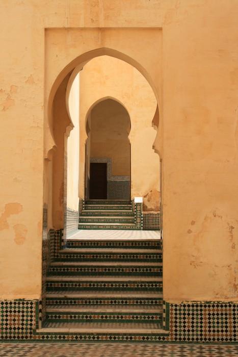 Fototapete Ausrichtung Tr einer Moschee in Meknes in Marokko  Pixers  Wir leben um zu verndern