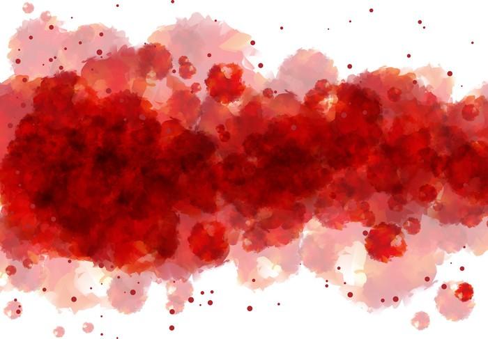 Carta da Parati Acquerello sfondo rosso  Pixers  Viviamo per il cambiamento