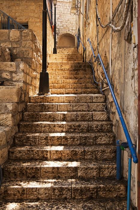 Fotobehang Stenen Trap In Safed  Pixers  We leven om te
