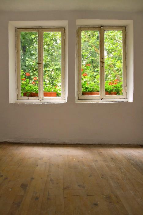 Fototapete Fenster im alten Bauernhaus  Pixers  Wir